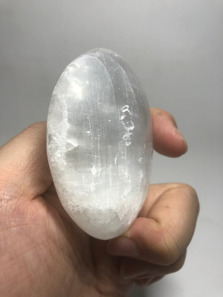 Selenite Palm Stones 112g