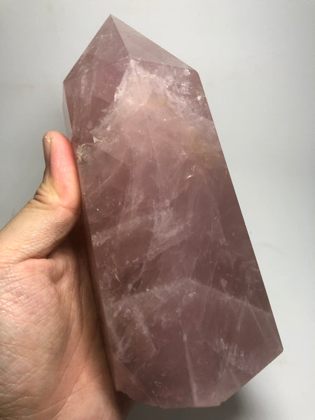 Rose Quartz Crystal Point 1180g
