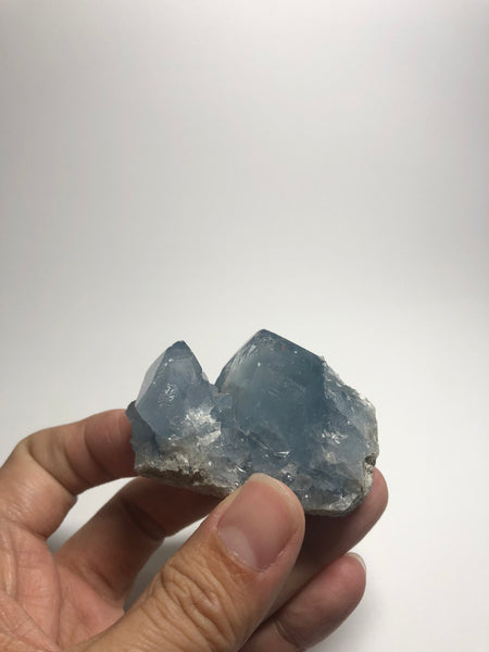 Blue Celestite Cluster Raw Crystals 122g