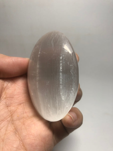 Selenite Palm Stones 124g