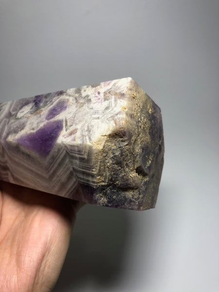 Chevron Amethyst Crystal Point 1340g