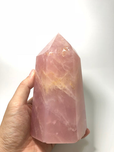 Rose Quartz Crystal Point 1348g