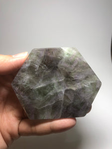 Purple Green Fluorite Slab 134g