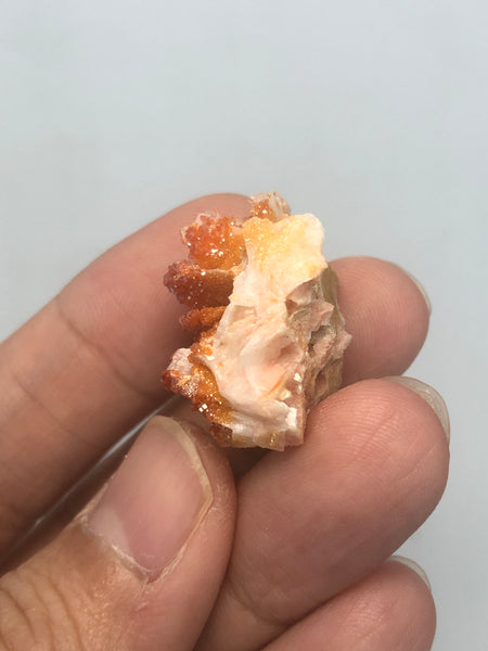Vanadinite on Barite Raw Crystals 13g