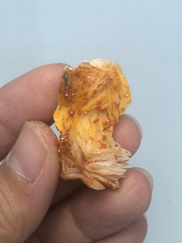 Vanadinite on Barite Raw Crystals 14g