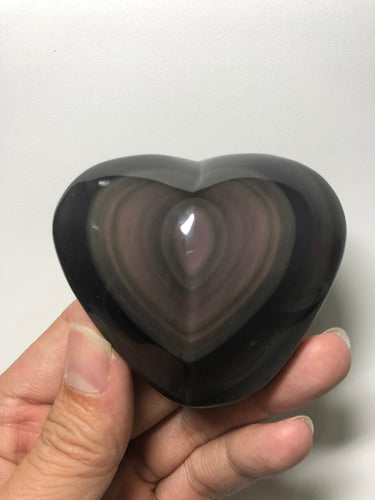 Rainbow Obsidian Polished Heart Shape 174g