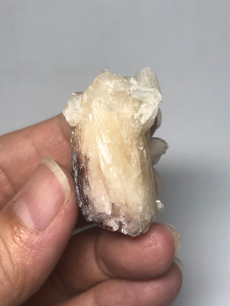 Stilbite with Hematite Raw Crystals 18g