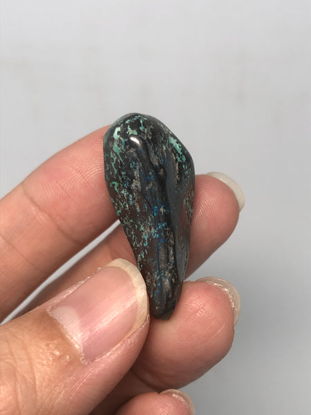 Chrysocolla with Dioptase Tumbled Stones 19g
