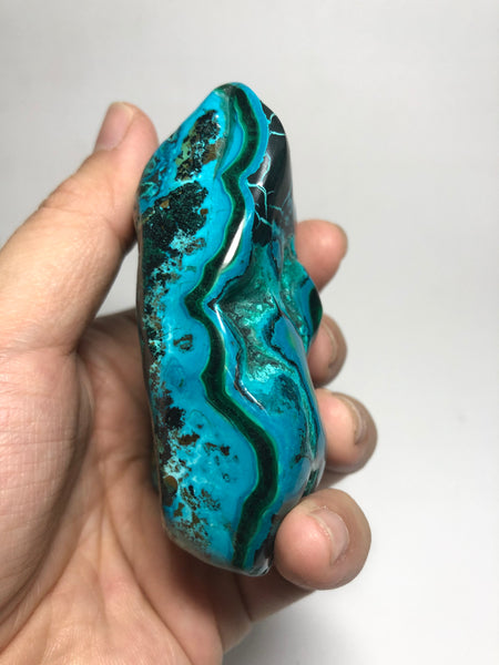 Chrysocolla Malachite with Heterogenite Raw Crystals 208g
