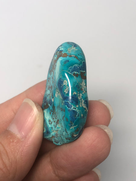 Shattuckite with Chrysocolla Tumbled Stones 21g