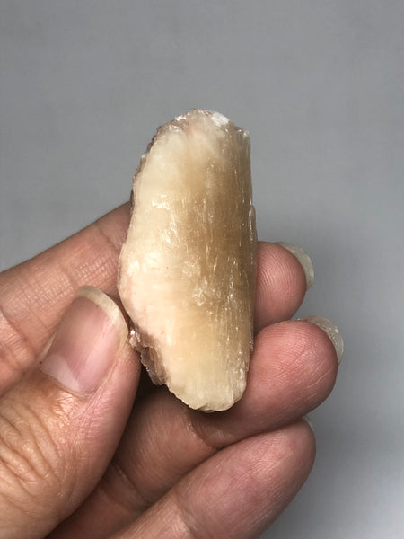 Stilbite with Hematite Raw Crystals 21g