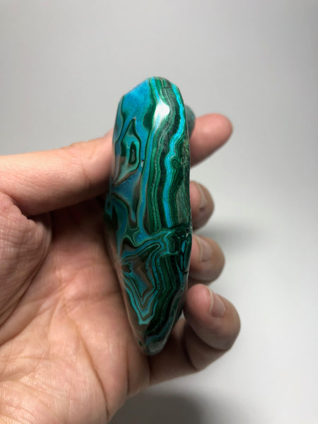 Chrysocolla Malachite Crystal Raw Mineral 220g