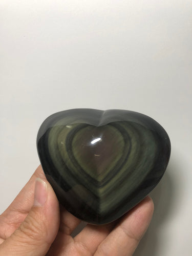 Rainbow Obsidian Polished Heart Shape 229g
