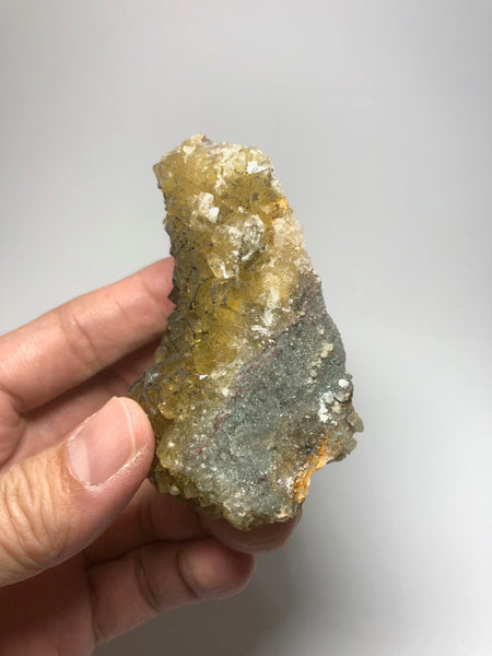 Yellow Fluorite with Chalcopyrite from Spain 231g