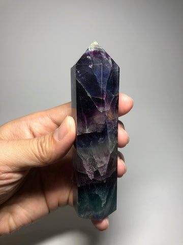 Rainbow Fluorite Crystal Point 235g