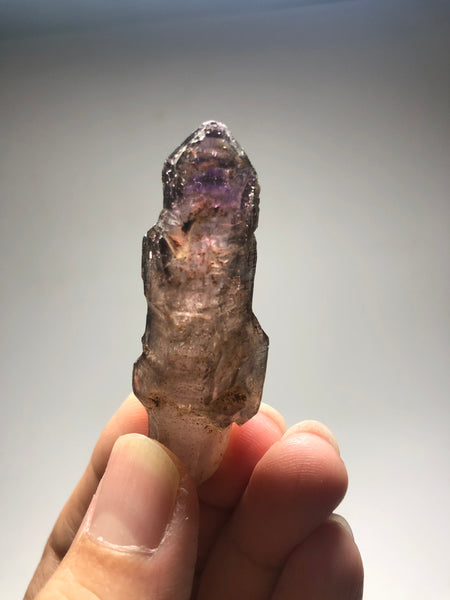 Smoky Amethyst with Red Hematite Scepter Raw Crystals 23g
