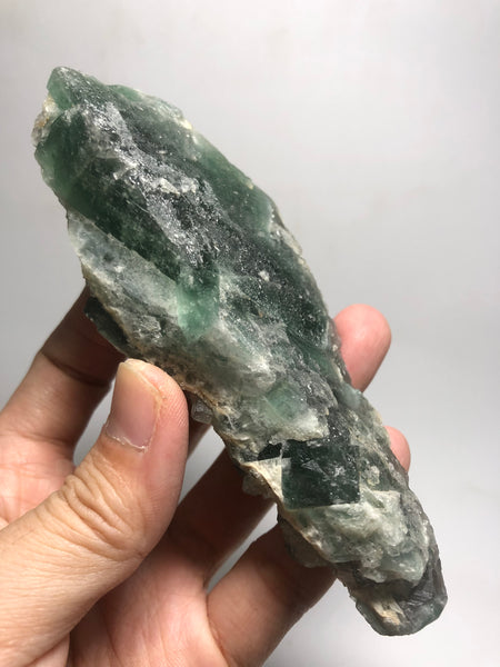 Cubic Green Fluorite Cluster Raw Crystals 240g
