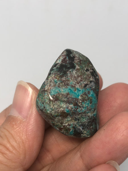 Chrysocolla with Cuprite and Heterogenite Tumbled Stones 25g