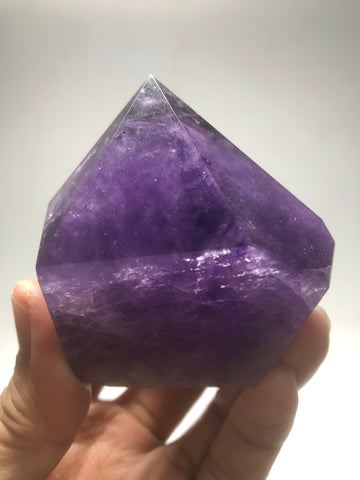 Polished Amethyst Crystals Point 266g
