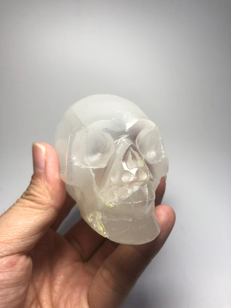 Selenite Crystal Skull 266g