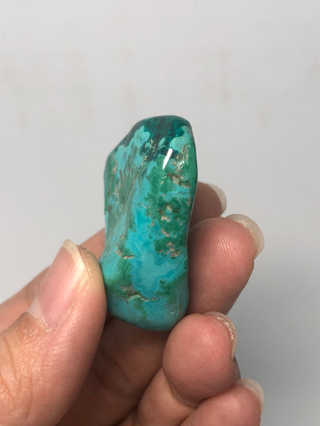 Chrysocolla with Dioptase Tumbled Stones 26g