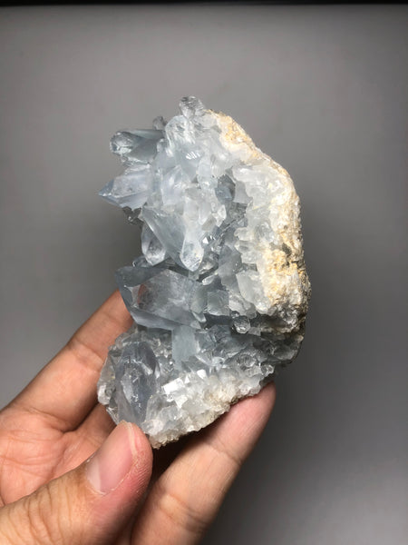 Blue Celestite Cluster Raw Crystals 289g
