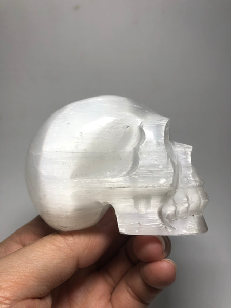 Selenite Crystal Skull 304g