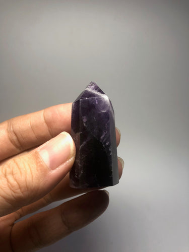Chevron Amethyst Crystal Point 30g