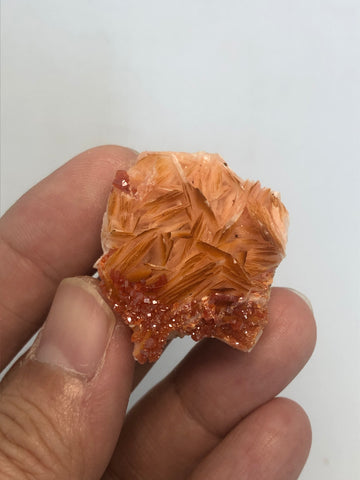 Vanadinite on Barite Raw Crystals 30g