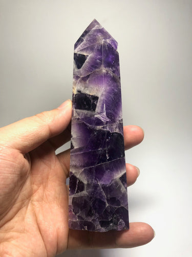 Chevron Amethyst Crystal Point 310g