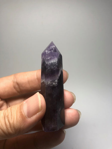 Chevron Amethyst Crystal Point 31g
