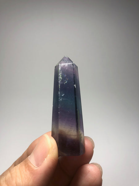 Rainbow Fluorite Crystal Point 31g