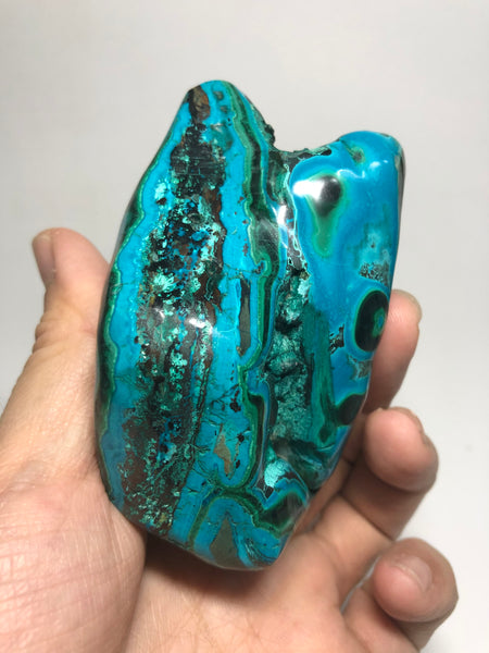 Chrysocolla Malachite with Heterogenite Raw Crystals 324g