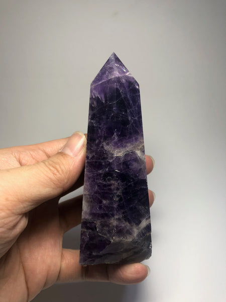 Chevron Amethyst Crystal Point 330g