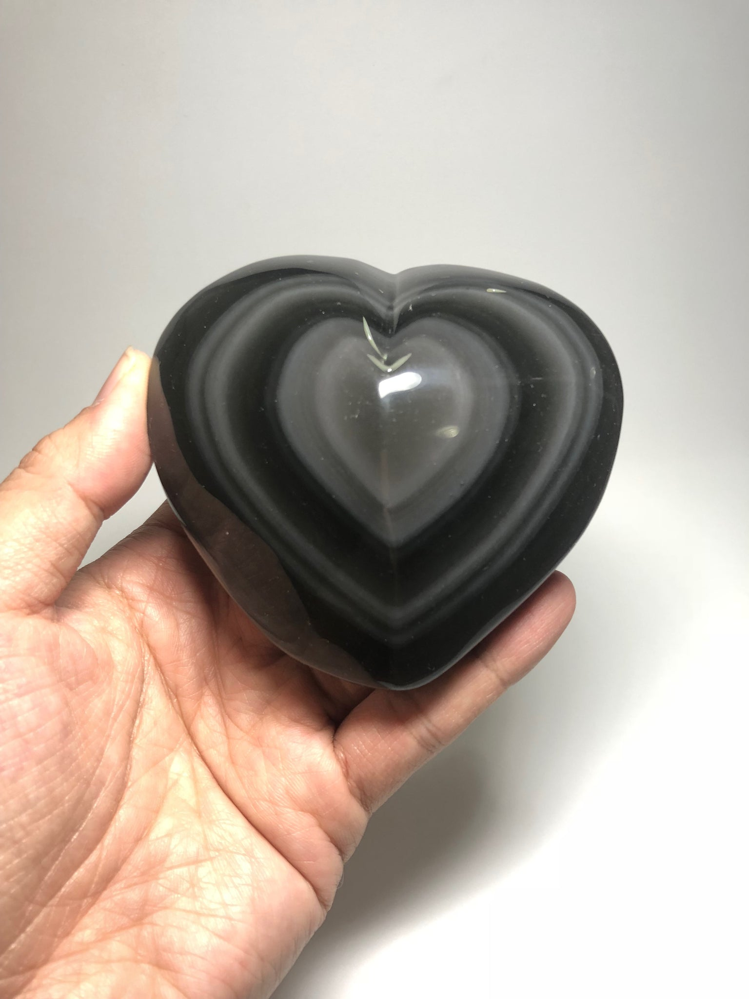 Rainbow Obsidian Polished Heart Shape 336g