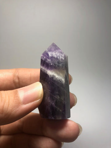 Chevron Amethyst Crystal Point 33g