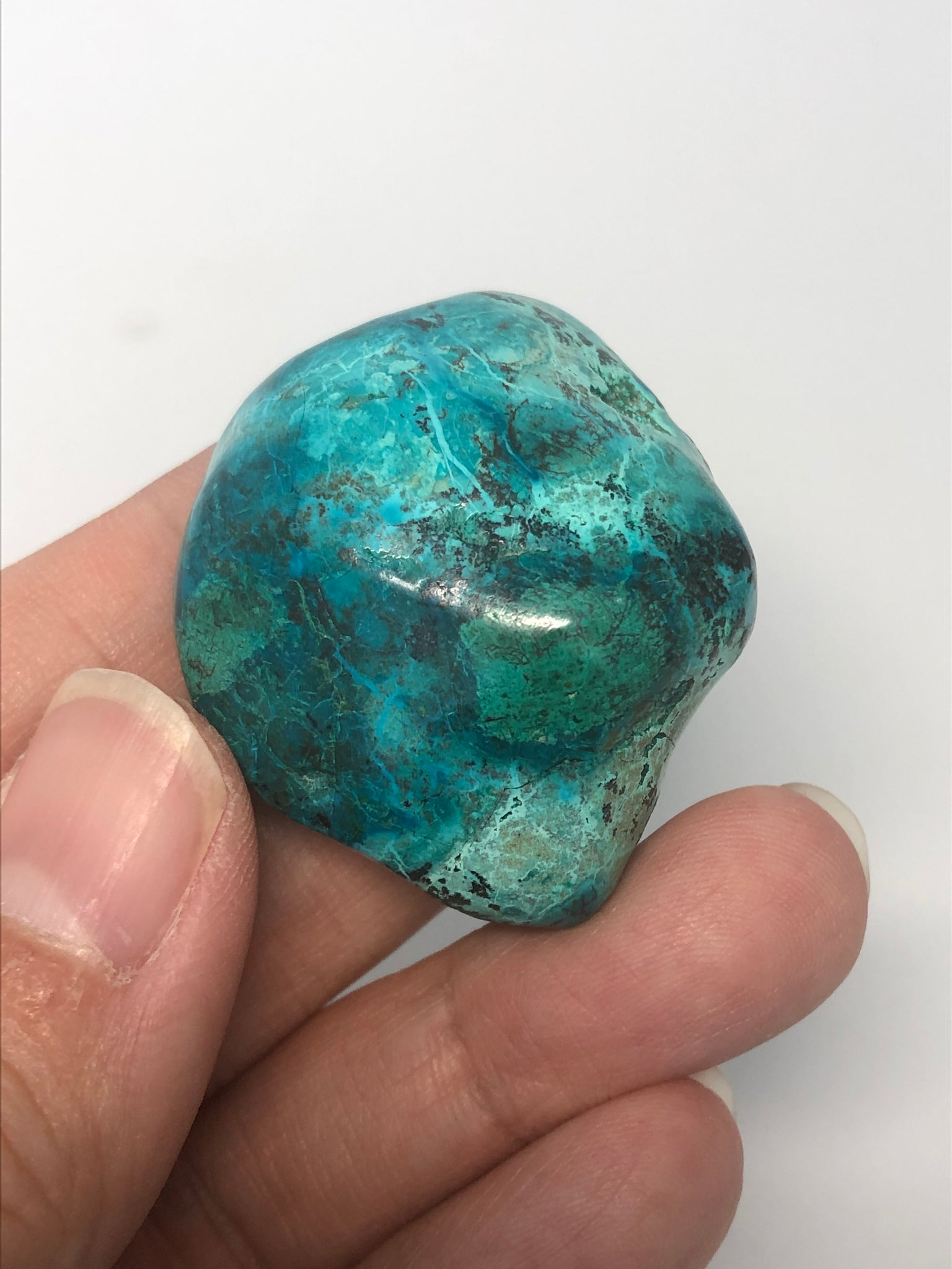 Chrysocolla with Heterogenite Tumbled Stones 34g