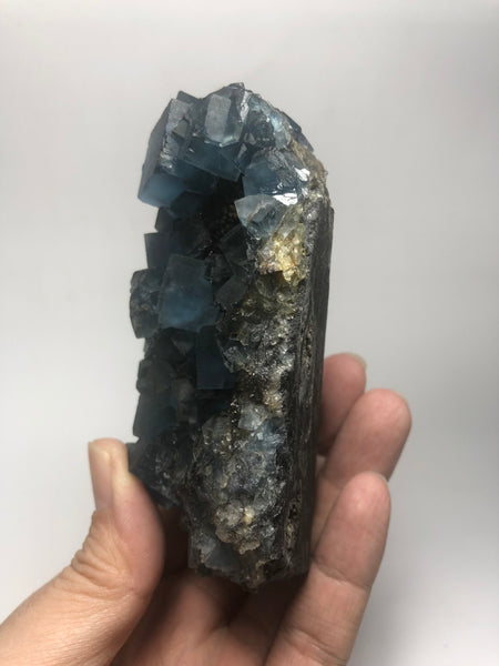 Translucent Blue Cubic Fluorite Raw Crystals 361g