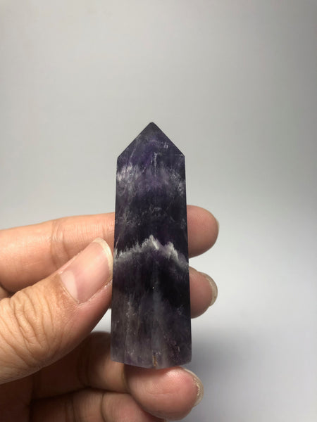 Chevron Amethyst Crystal Point 39g