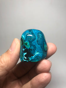 Chrysocolla Malachite with Heterogenite Raw Crystals 41g