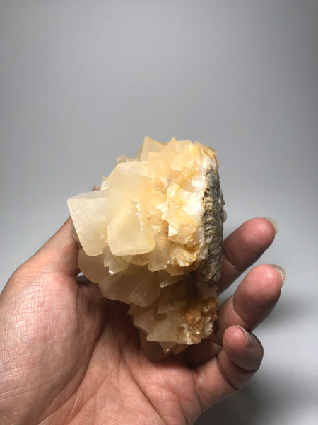 Rare White Triangle Calcite 427g