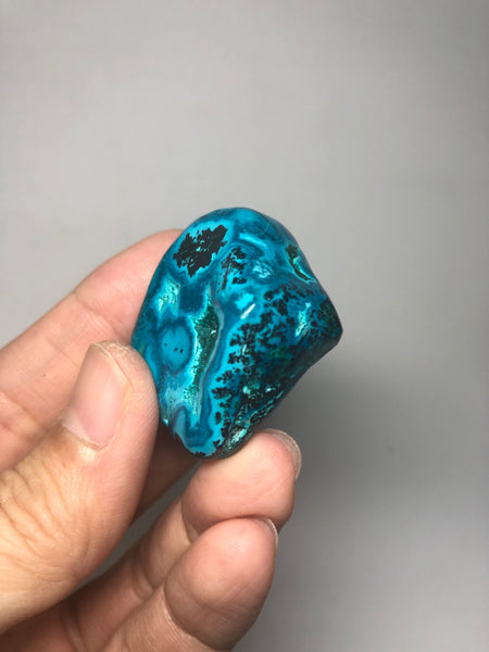 Chrysocolla Malachite with Heterogenite Raw Crystals 42g