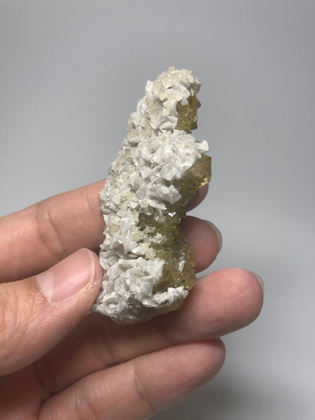 Yellow Fluorite with Calcite from Spain 42g