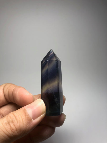 Rainbow Fluorite Crystal Point 42g
