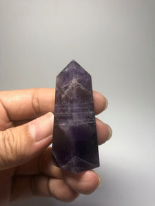 Chevron Amethyst Crystal Point 44g