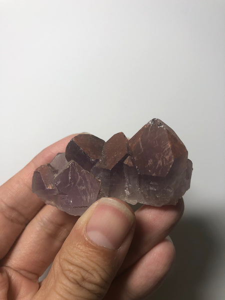 Red Amethyst Raw Crystals Cluster from Brazil 44g