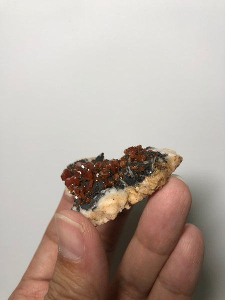 Red Vanadinite Crystal Cluster on Baryte 45g