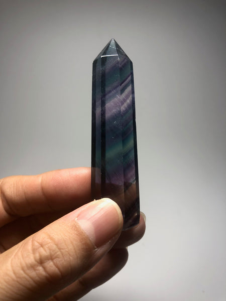 Rainbow Fluorite Crystal Point 47g