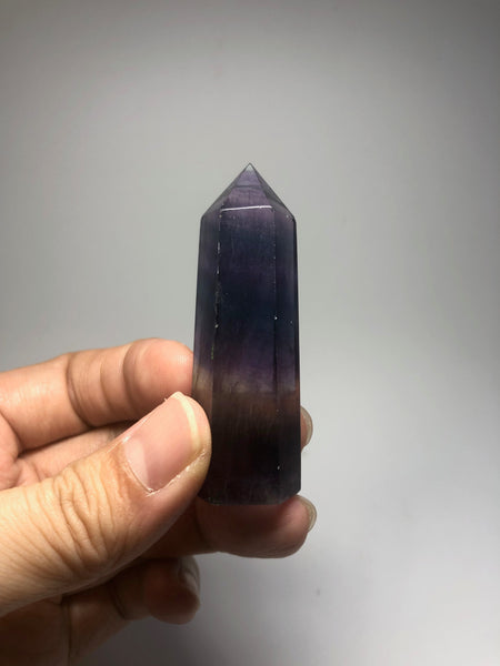 Rainbow Fluorite Crystal Point 51g