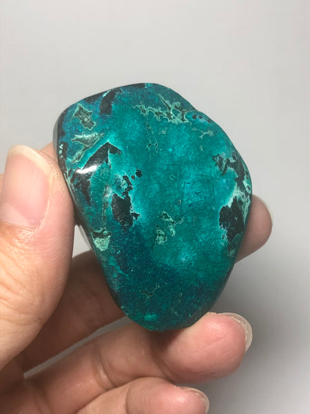 Chrysocolla with Heterogenite Raw Crystals 52g